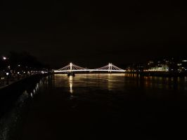 Albert Bridge at Night by JackHayden