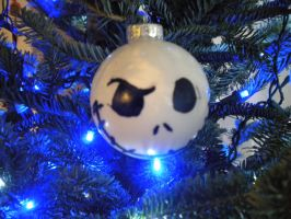 skellington xmas ball by PennyHorrible