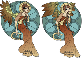 Steampunk Angel 01 by Avengium