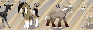 Mixed Hooved Adopts - CLOSED by Nahemii-chan
