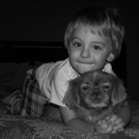 A Boy and His Dog by LivingDreamer97