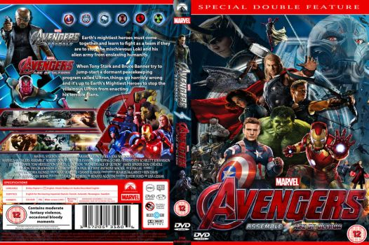 Avengers: ASSEMBLE and AGE OF ULTRON DVD cover by cutnpaste-since2011