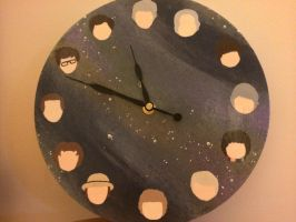 Doctor Who Clock by lulutetium
