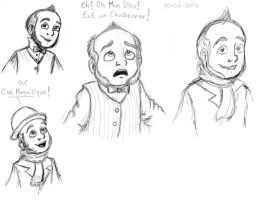 First Emile sketches :D by Atrixfromice