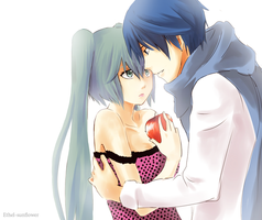 Commission Miku and Kaito by Ethel-Sunflower