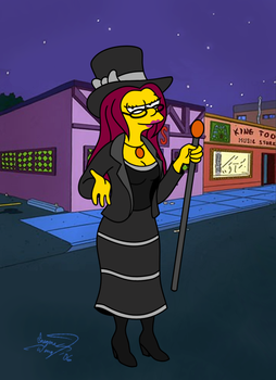 Guest-starring on the Simpsons by enigmawing