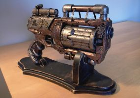 Steampunk Hand Gun by Greathouse