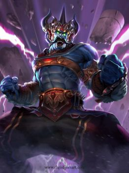 SMITE - Super Sayian Indian Blue Mario S4 by ChrisBjors