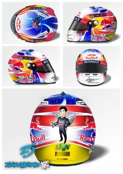 Mark Webber helmet design 1 by ZlatkaS
