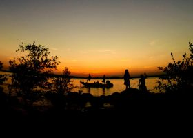 Fishing at sunset by uniqueperson815