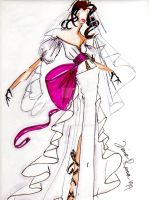 Bridal Couture Illustration II by shadowsphere21
