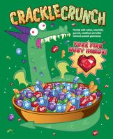 Crackle Crunch Cereal Tee Shirt Design by xkappax