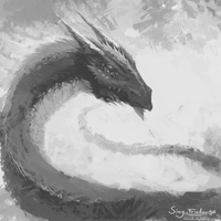 Dragon Sketch by JoshuaNel