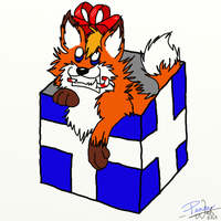 All I Want for Christmas is a Fox Named Brian! by PeaceWolfCreations