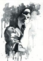 Brian Molko (smoking) by Cora-Tiana