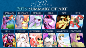 DShou's 2013 Summary of Art by DShou