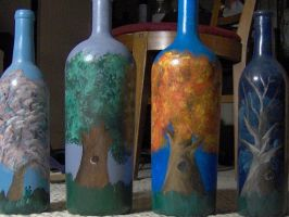 More painted bottles by seiyalover