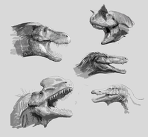 Dino Doodles by LindseyWArt