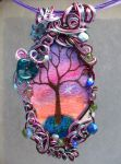 Twilight Forest Pendant no. 14 by sojourncuriosities