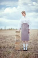 The girl with books by alekcunder