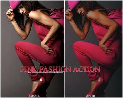 pink fashion action by obsessedwithyoou