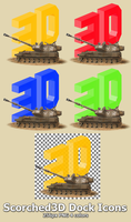 Scorched3D Dock Icons by lapinlunaire