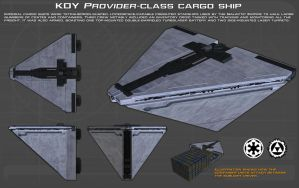 Imperial Provider-class cargo ship ortho [New] by unusualsuspex