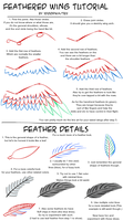 Tutorial: Feathered Wings and Feather Details. by XD001Pika