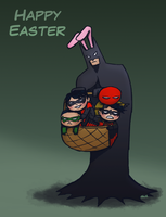 Happy Batman Easter - 2012 by Super-kip
