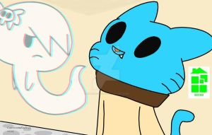 Gumball and Carrie :SAI ver.: by Midnight-Wolfi3