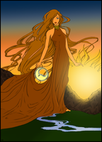 Anzirrah - Colored by Shadowed-Midnight