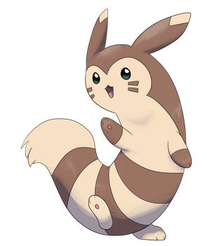Furret based on its Emerald sprite by Chipflake