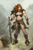 Female Barbarian Heavy Metal Warrior XnotXmineX by Barbarian-Court