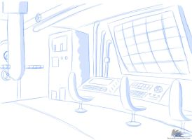 Concept Setting - Submarine controle room by DrakebyRS