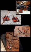 Abacus earrings and necklace by ZombieArmadillo