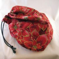 Poinsettia Gift Bag by ErrantDreams