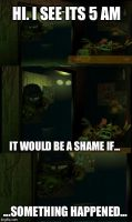 It would be a shame (Springtrap) by DragonBorn1002