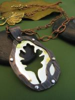 Oak Leaf Necklace by AbandonedMemory