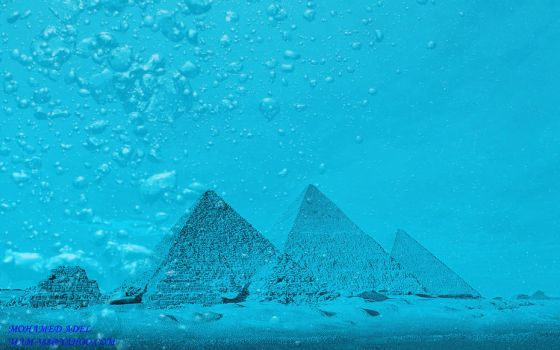 The pyramids of GIza -Underwater by Creativemohamedadel