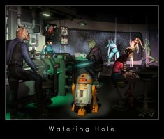 Watering hole by Kaernen