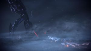 Mass Effect 3 Menae Crashed Ship by droot1986
