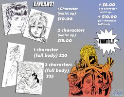 lineart prices by liaartemisa