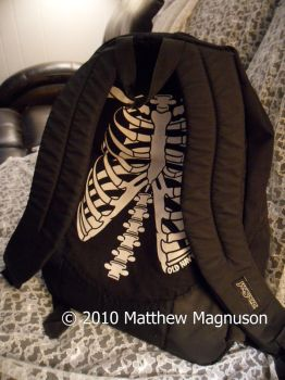 Skeleton Rib Backpack by PigsCanFly2day