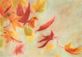 Fall Leaves by CPT-CUPCAKE-art