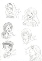 disney sketchdumps by princessofDisney27