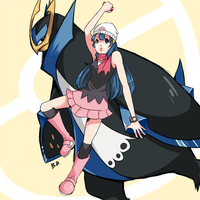Dawn and Empoleon by pyrofire2007