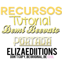 +Recursos Demi Beevato Portada Tutorial. by ElizaEdiitions