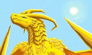 Golden Dragon by BahamutDeusModus