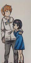Pewdiepie and Yuka by englishyukichan