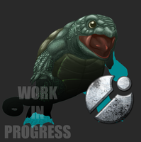 Squirtle WIP Progress by Sketchasaurus